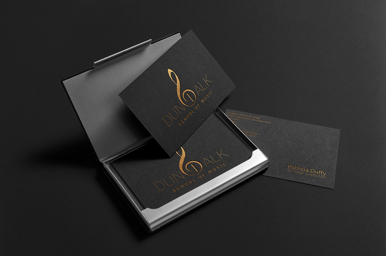 Business cards design for Dundalk School Of Music