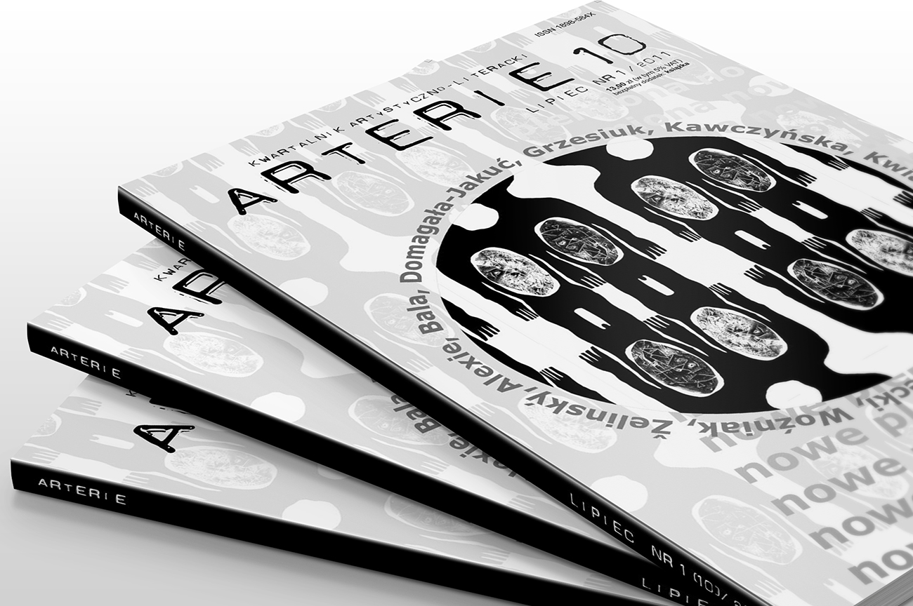 Editorial design. DTP for the Art and Literary Magazine Arterie. Front cover.