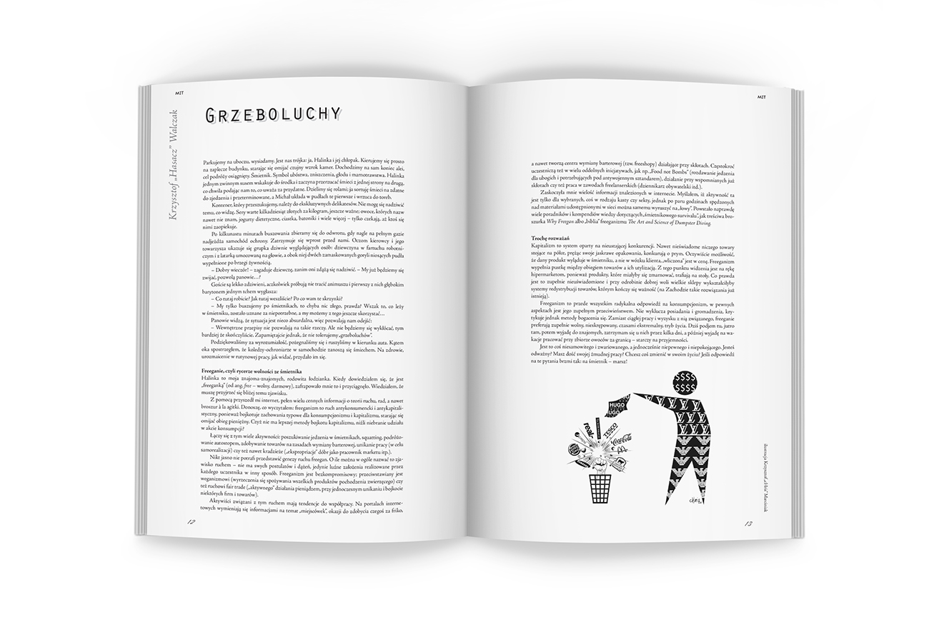 Editorial design. DTP, illustrations for the Art and Literary Magazine Arterie. Pages.