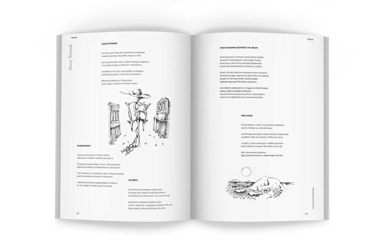 Editorial design. DTP, pencil illustrations for the Art and Literary Magazine Arterie. Pages.