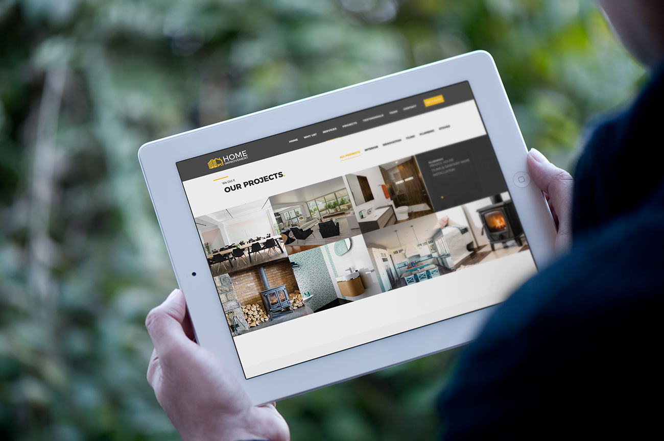 Mobile friendly / responsive website design for the construction company, contractor, handyman MK Home Improvement