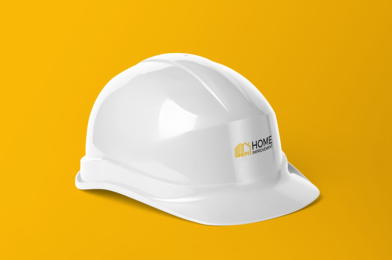 Custom protective clothing and personal items helmets design for the construction company, contractor, handyman MK Home Improvement