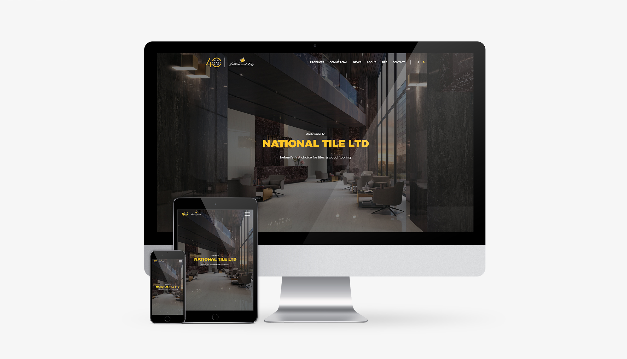 Multi devices mobile friendly rensponsive website for tile company, shops, factory